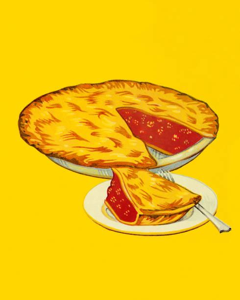 cherry pie - pie stock illustrations, clip art, cartoons, & icons