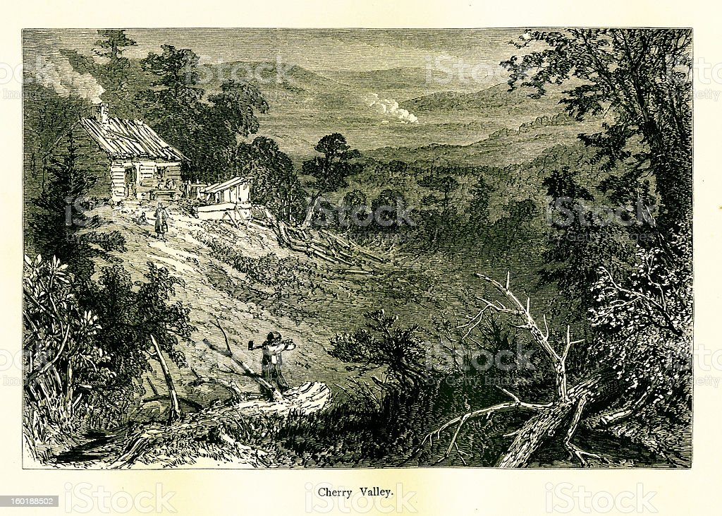 Cherry Valley, Pennsylvania royalty-free stock vector art