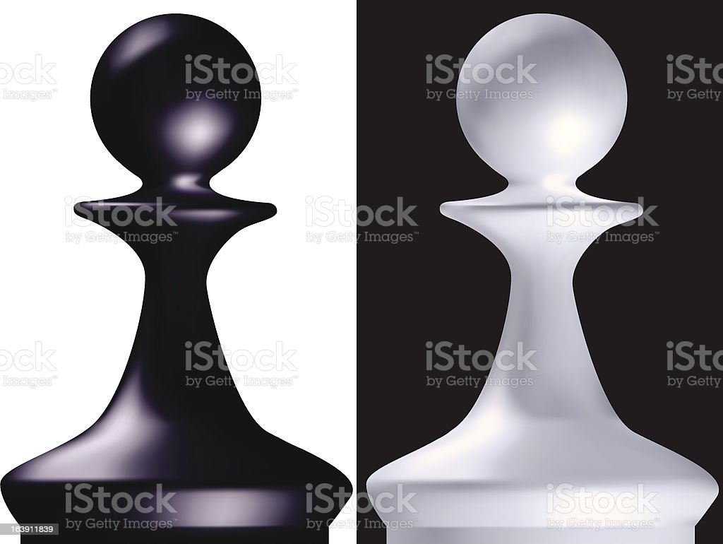 chess figure a pawn royalty-free stock vector art