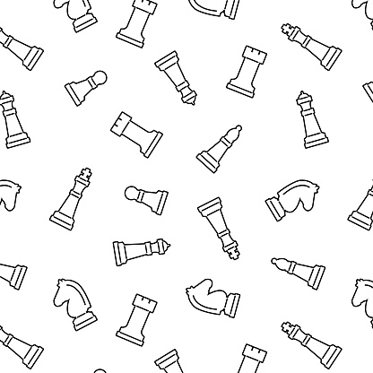 Chess seamless pattern background - Vector