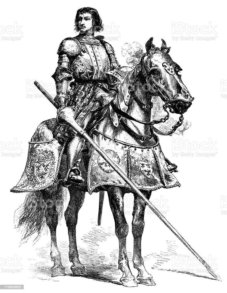 Chevalier de Bayard royalty-free stock vector art