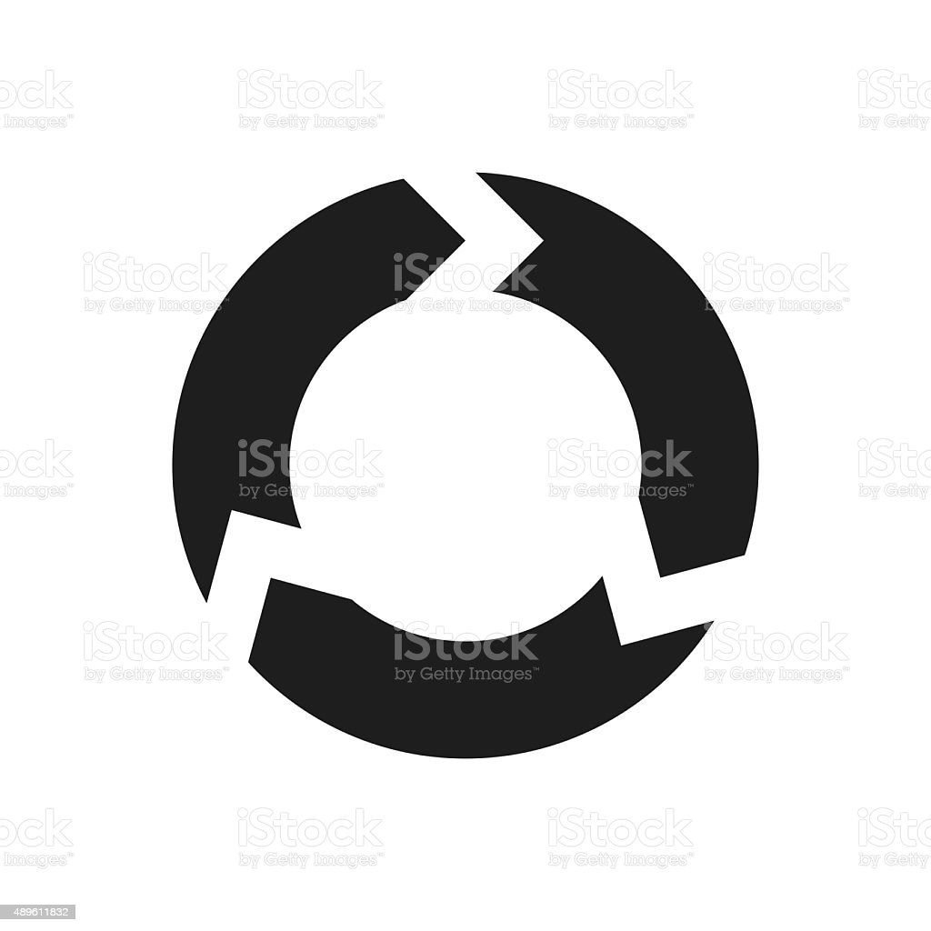 Chevron Chart icon on a white background. - Single Series vector art illustration