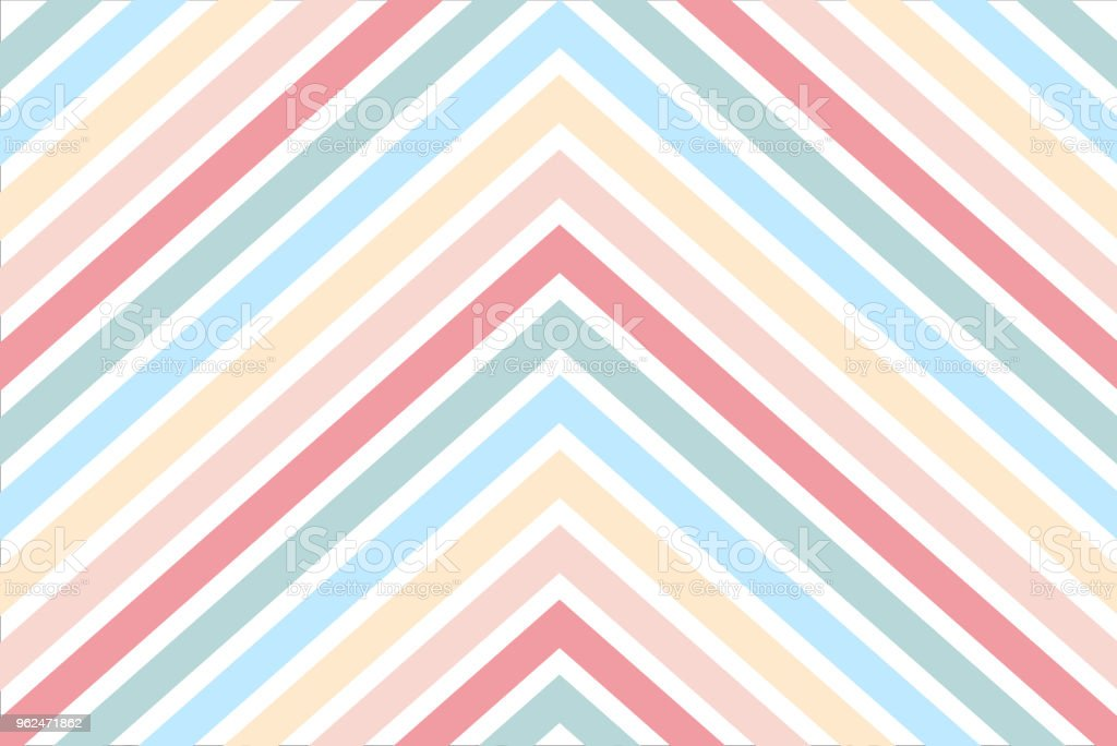 Chevron stripe pattern with pastel color for background and wrapping paper design vector art illustration