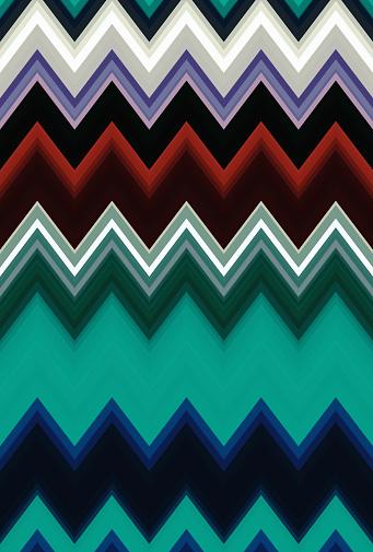 Chevron zigzag dark green pattern abstract art background trends