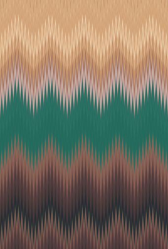 Chevron zigzag wave dark green pattern abstract art background trends