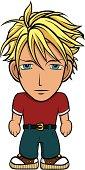 Chibi blond hero