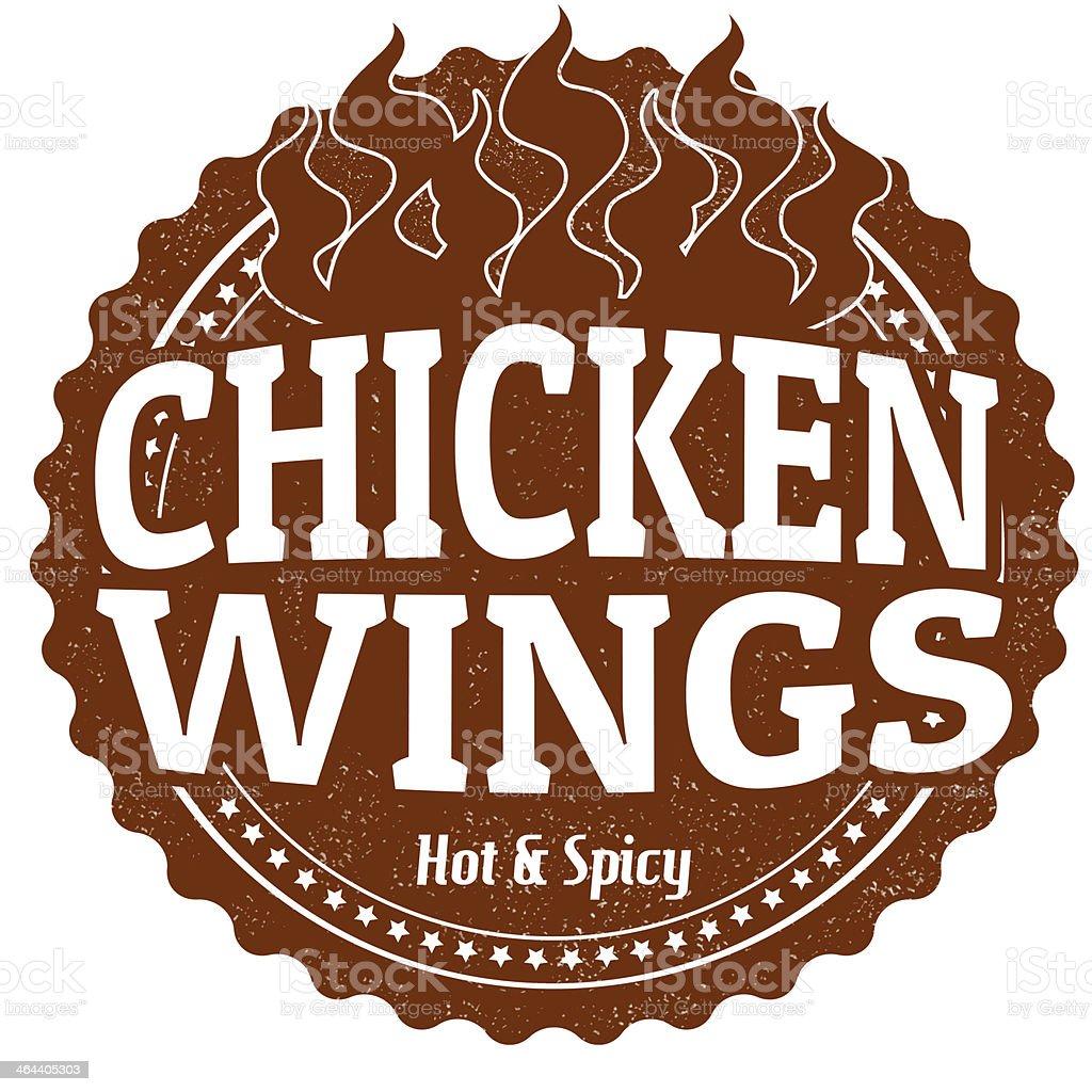 Chicken Wings stamp vector art illustration