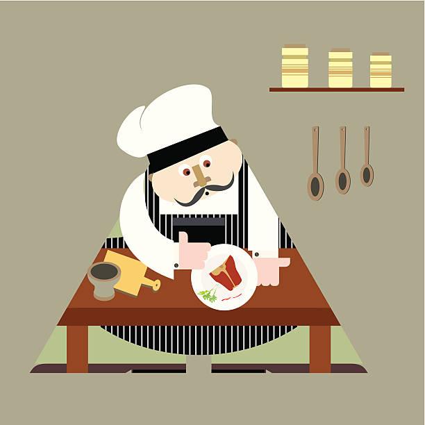 ilustraciones, imágenes clip art, dibujos animados e iconos de stock de el chef - tintanegra00