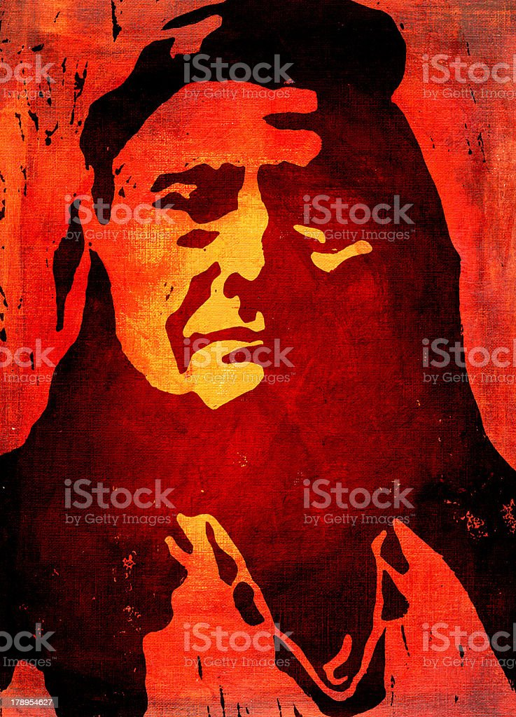Chief Joseph vector art illustration