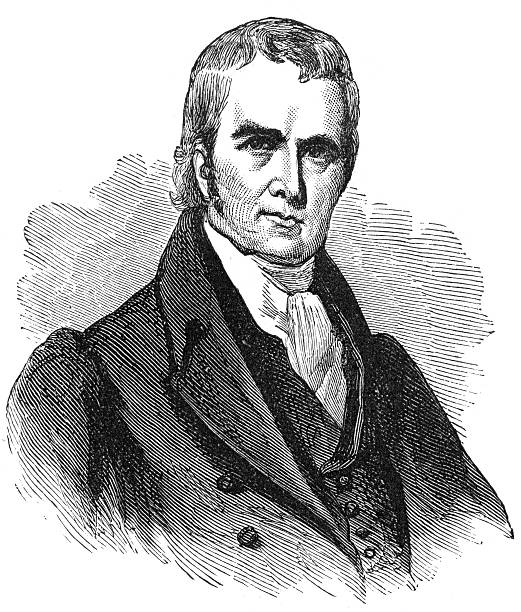 Chief Justice John Marshall John Marshall (September 24, 1755 – July 6, 1835) was the fourth Chief Justice of the Supreme Court of the United States (1801–1835). His court opinions helped lay the basis for United States constitutional law and made the Supreme Court of the United States a coequal branch of government along with the legislative and executive branches. Previously, Marshall had been a leader of the Federalist Party in Virginia and served in the United States House of Representatives from 1799 to 1800. He was Secretary of State under President John Adams from 1800 to 1801. chief justice stock illustrations