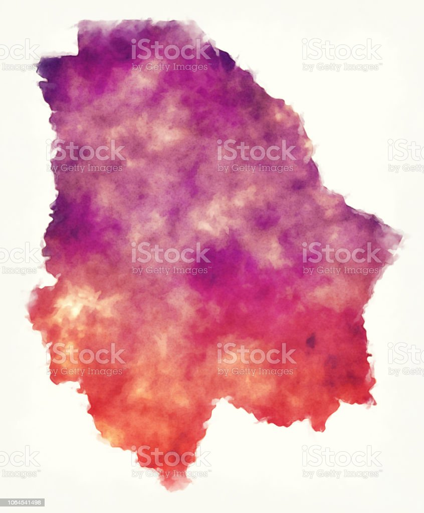 Chihuahua State Map Of Mexico In Front Of A White Background Stock