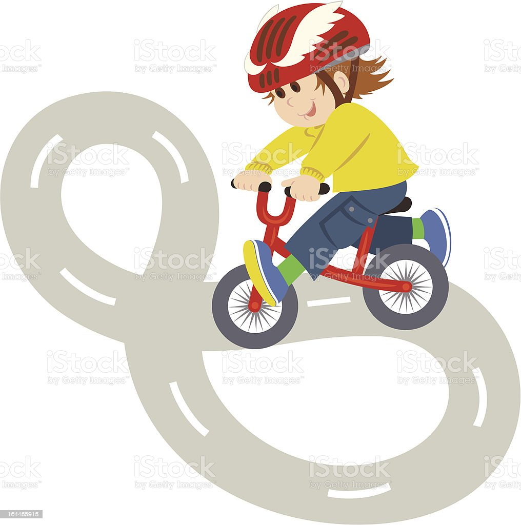 Child on Bike royalty-free stock vector art