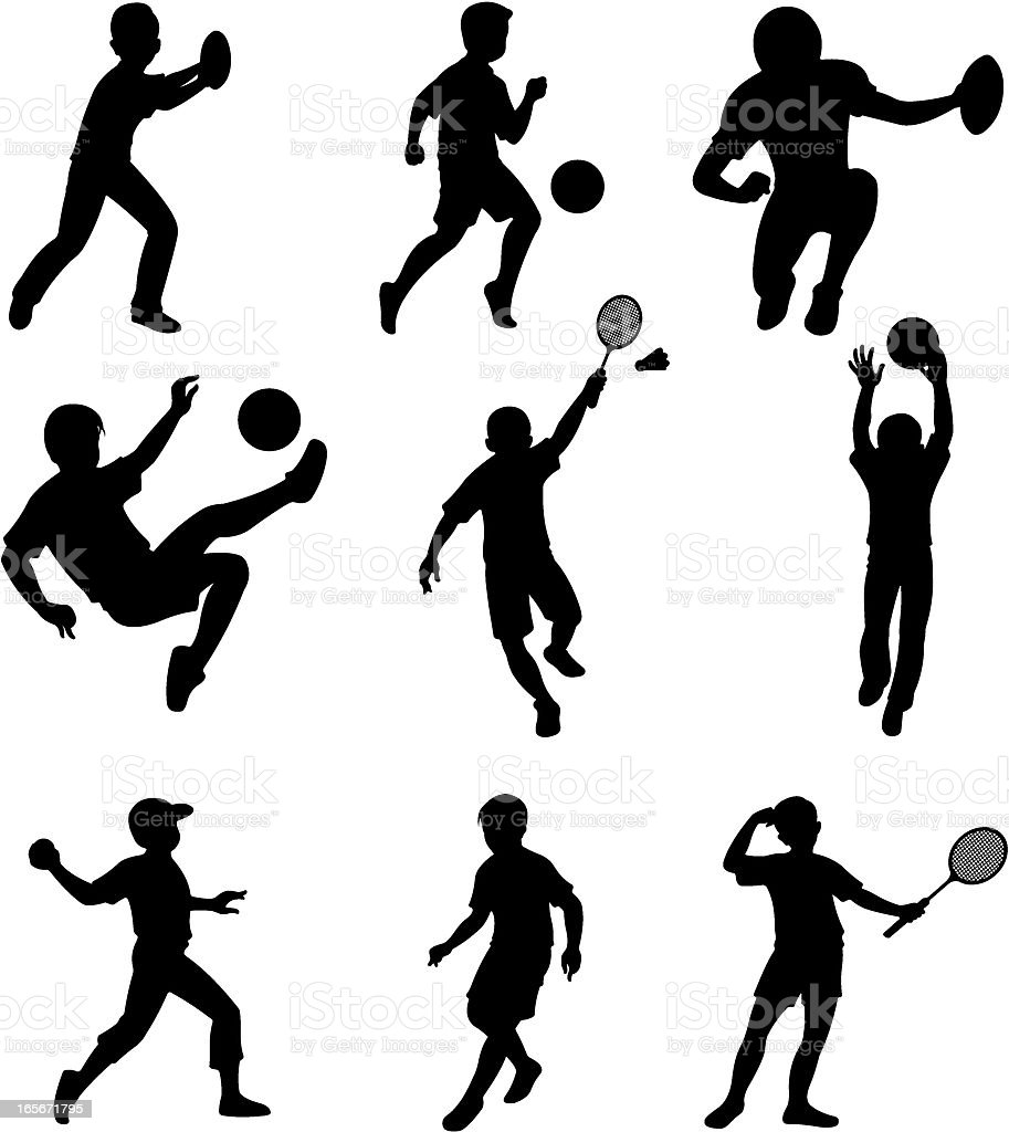 Children doing different sports activities royalty-free children doing different sports activities stock vector art & more images of activity