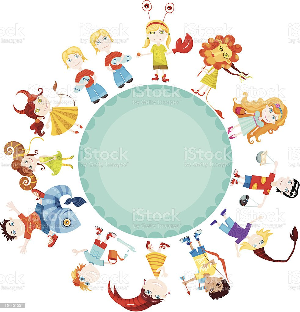 children horoscope royalty-free stock vector art
