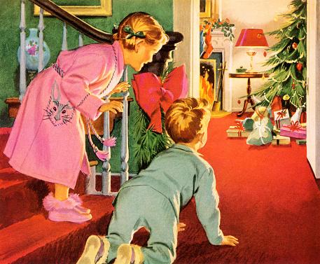 Children on Christmas Morning