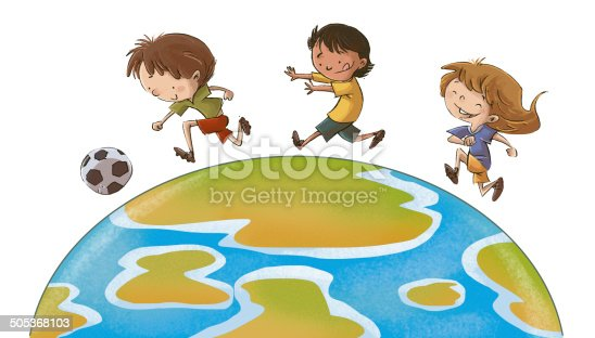istock children playing ball for the world 505368103