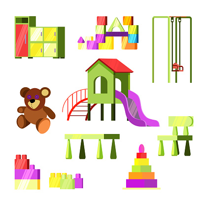 Children toys and playground set