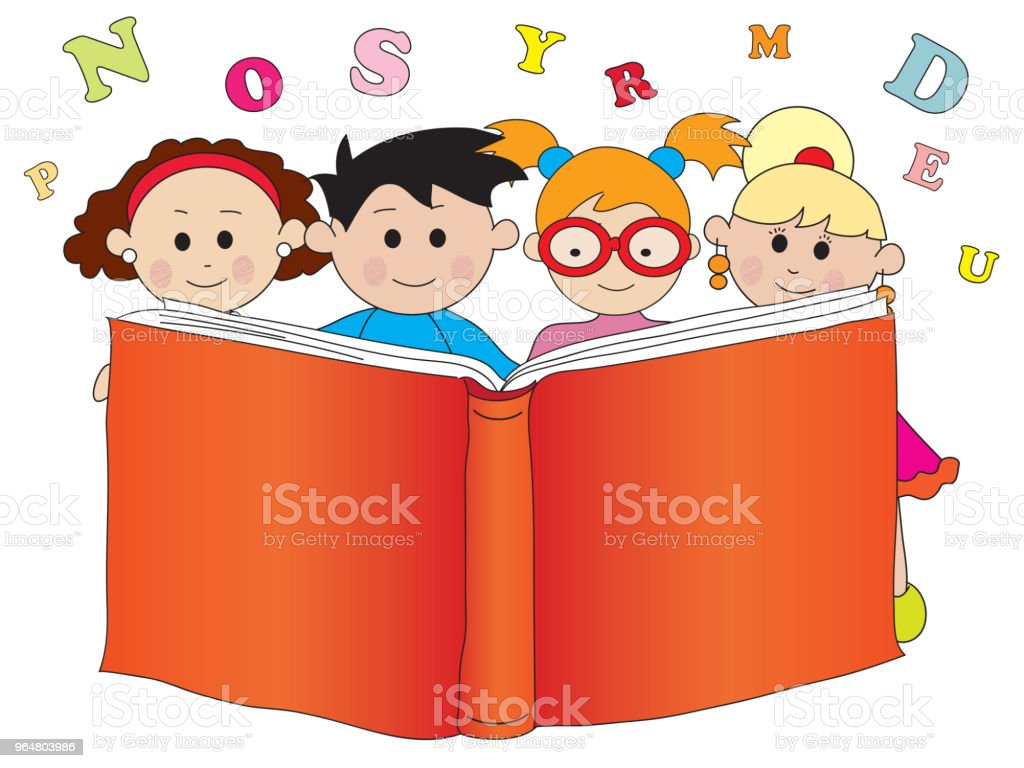 children with book royalty-free children with book stock vector art & more images of book