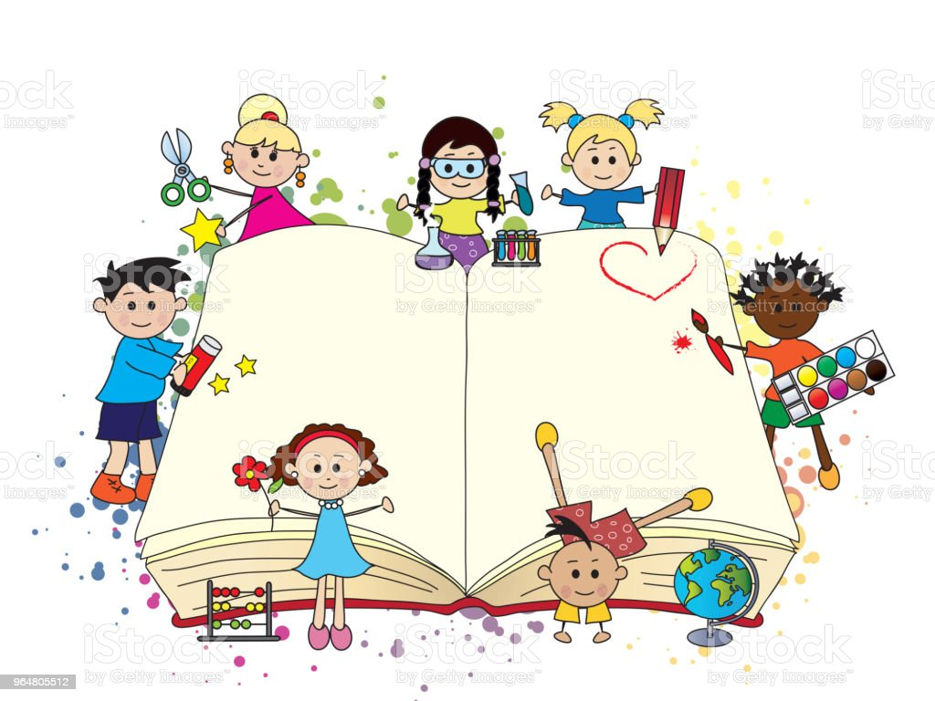 children with book royalty-free children with book stock vector art & more images of ancient