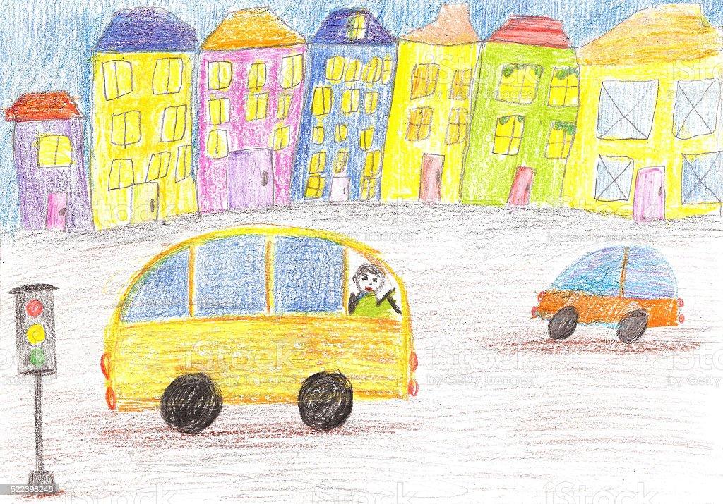 Vetores De Desenho Infantil Do Onibus E Mais Imagens De Carro Istock