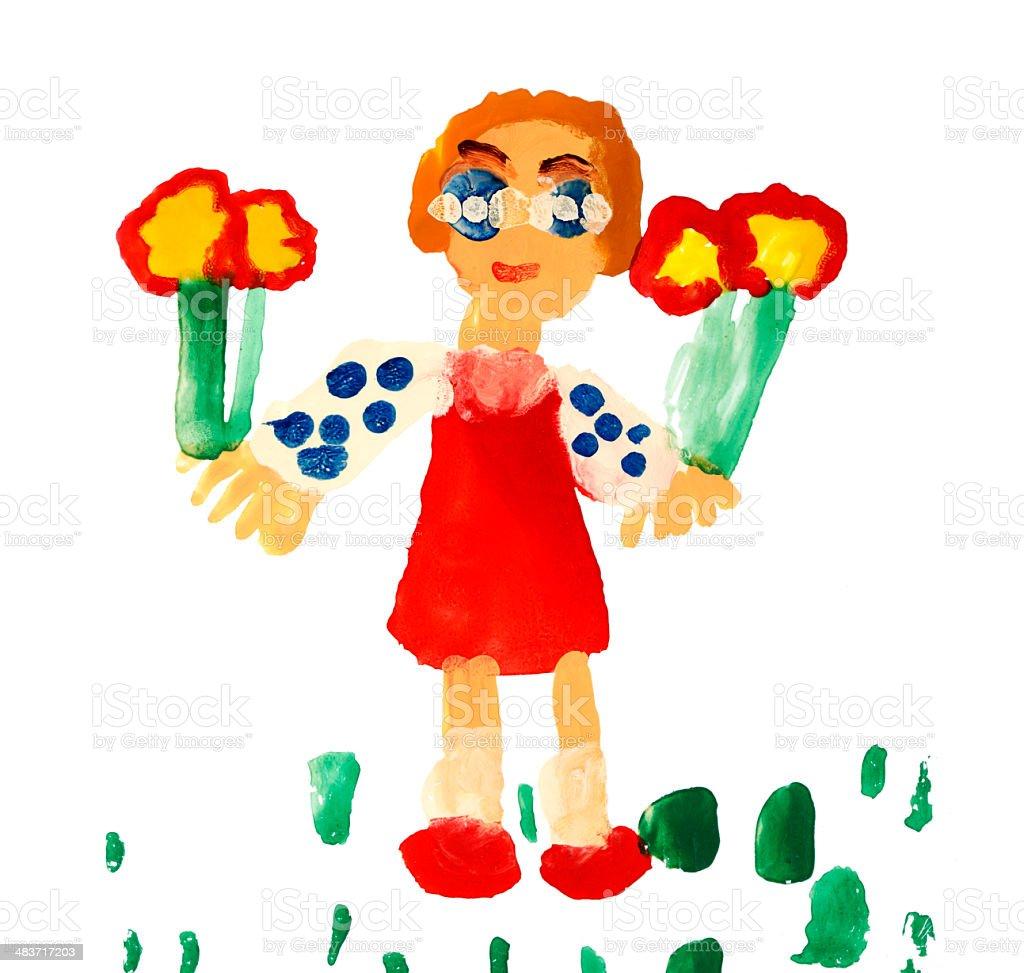 Children's Painting royalty-free stock vector art