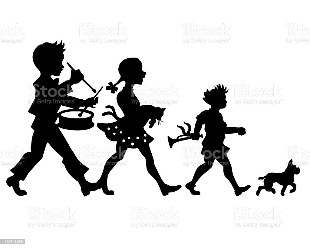 Children's Parade royalty-free stock vector art