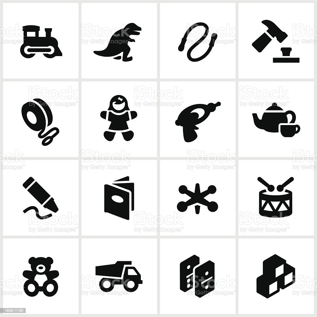 Children's Toys Icons royalty-free stock vector art