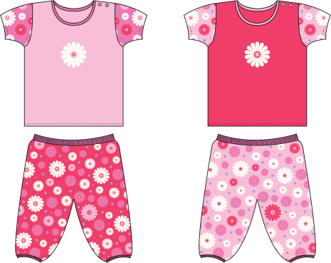 Childrenswear/Toddler Floral Top & Bottom Set