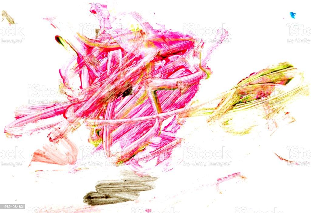 Child's finger painting vector art illustration