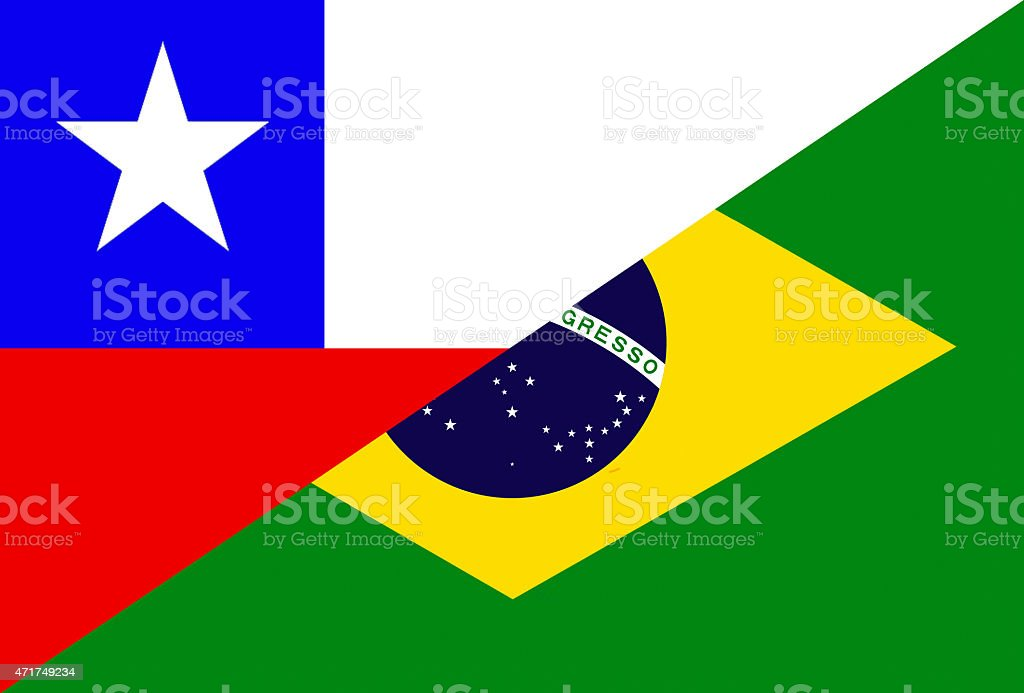 Chilean And Brazilian Flag Stock Vector Art More Images Of 2015
