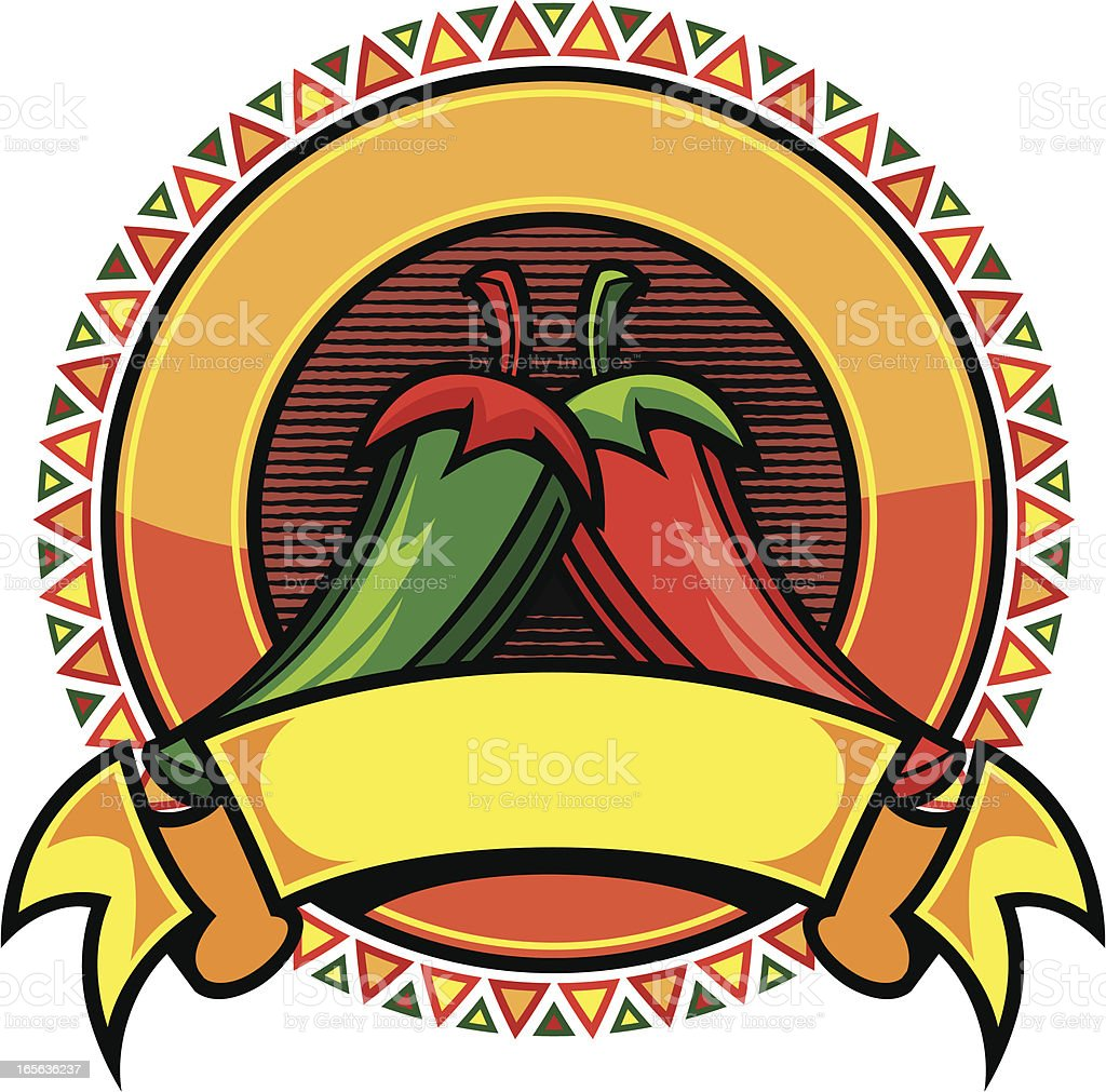 Chili Peppers II royalty-free stock vector art