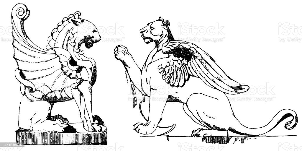 Chimera sculptures royalty-free chimera sculptures stock vector art & more images of animal