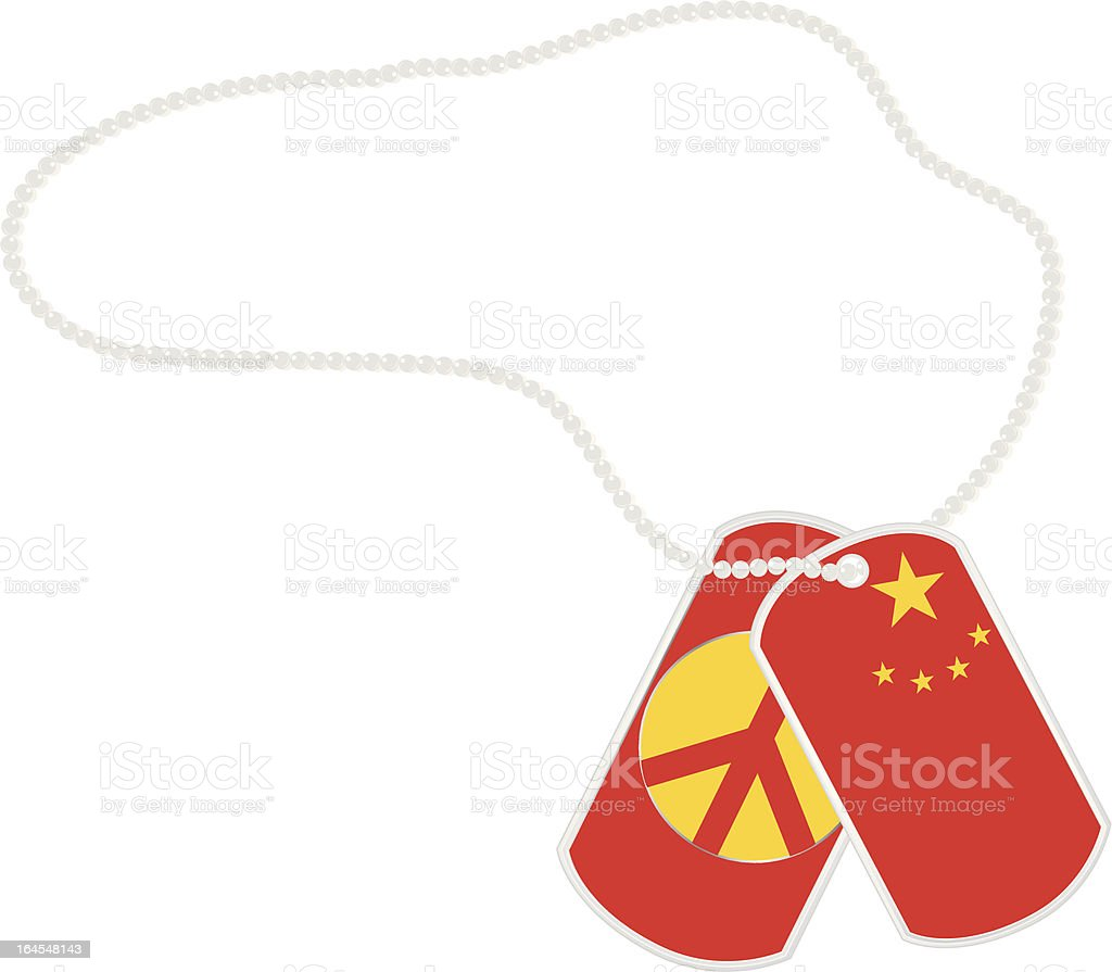 China Dog Tags royalty-free stock vector art