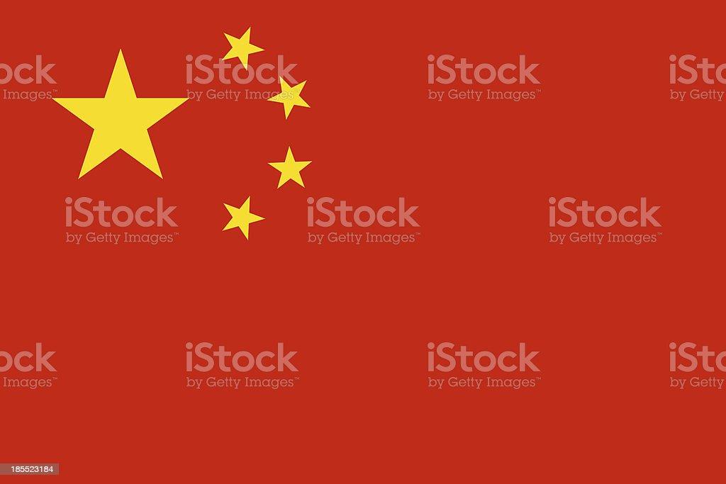 China Flag royalty-free stock vector art