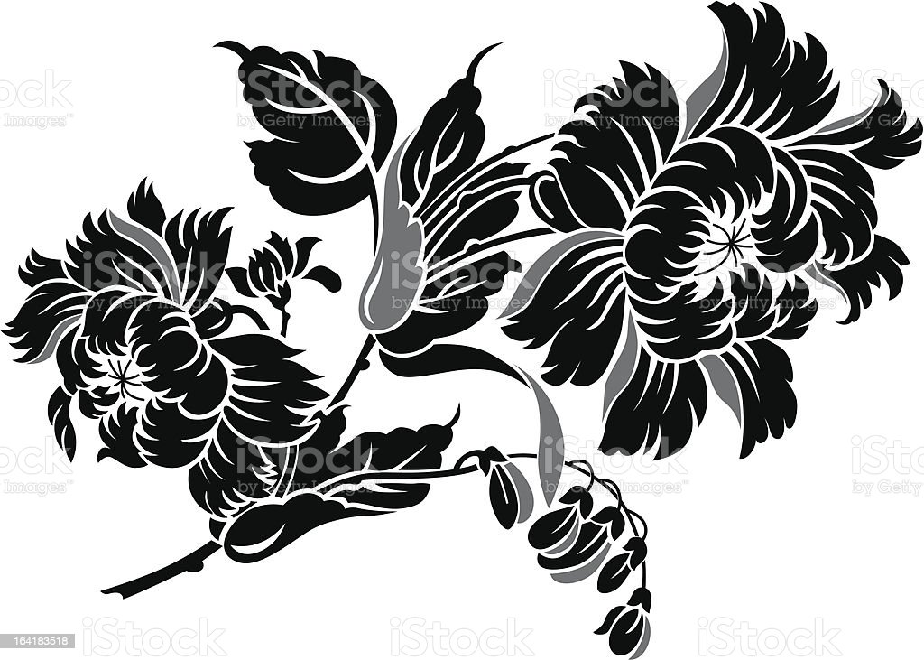 China Flower 1 royalty-free stock vector art