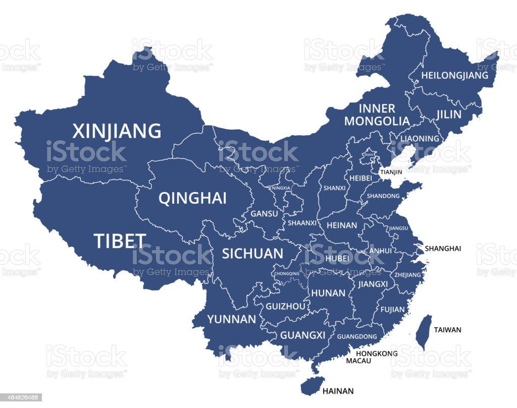 CHINA-MAP_v1 vector art illustration