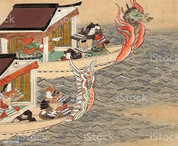 Chinesischer Drache Boote Stock Vektor Art und mehr Bilder von Aquarell