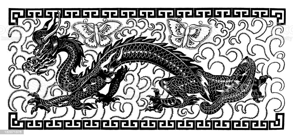 chinese Dragon royalty-free chinese dragon stock vector art & more images of animal representation