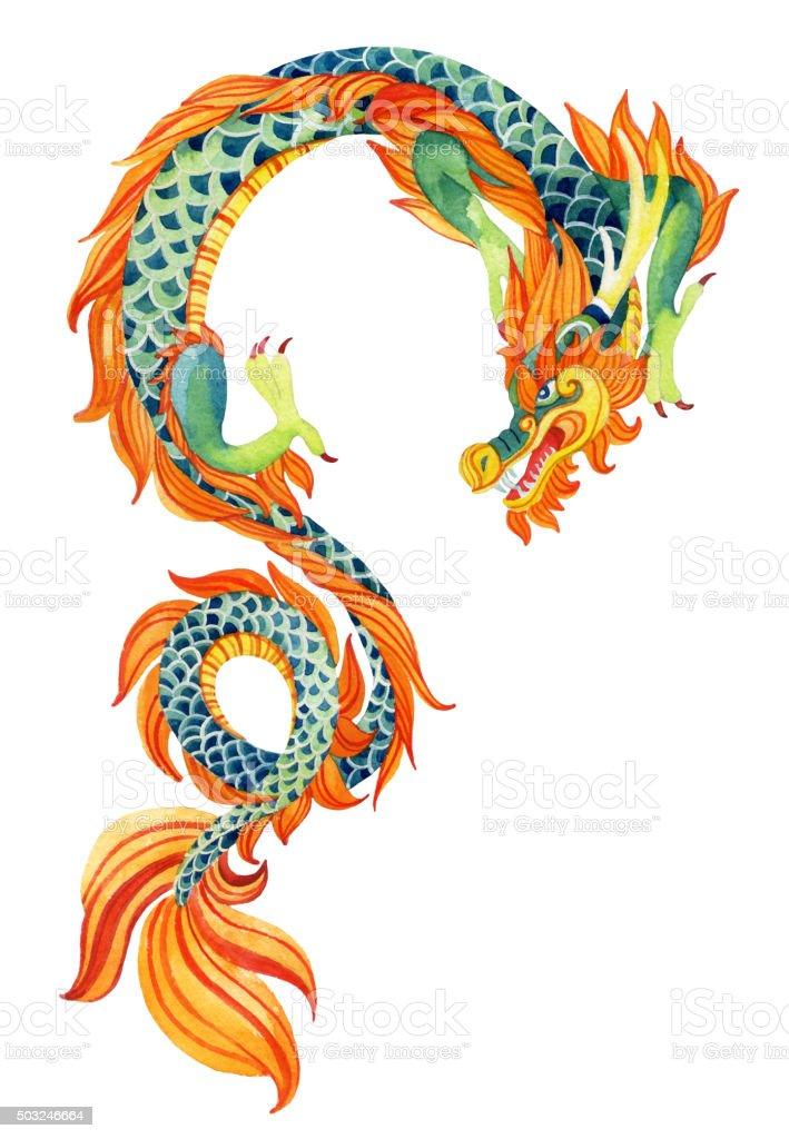 Dragon chinois. - Illustration vectorielle