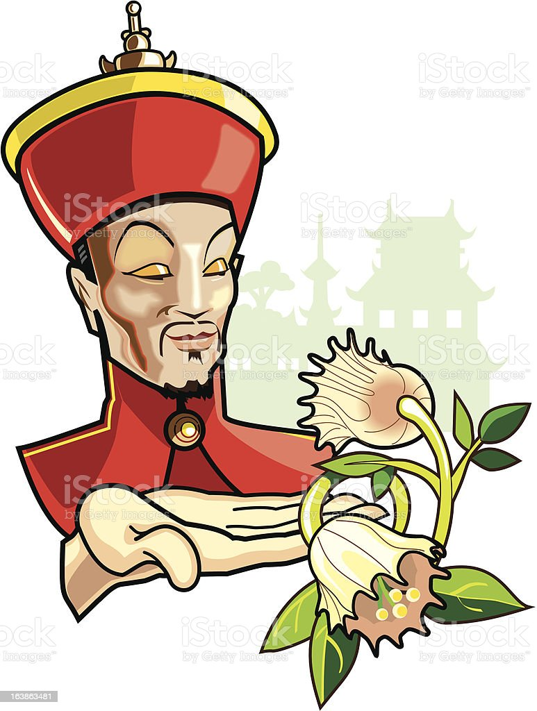 Chinese Emperor royalty-free stock vector art