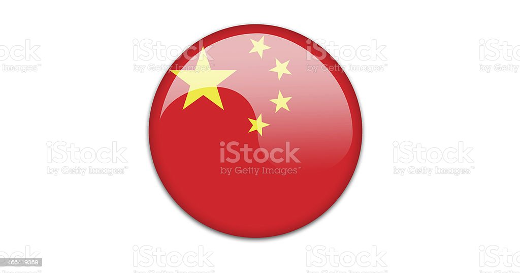 Chinese flag badge. royalty-free chinese flag badge stock vector art & more images of asia