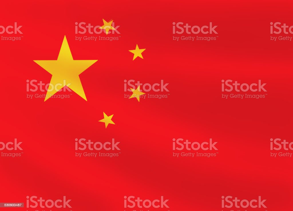 Chinese flag vector art illustration