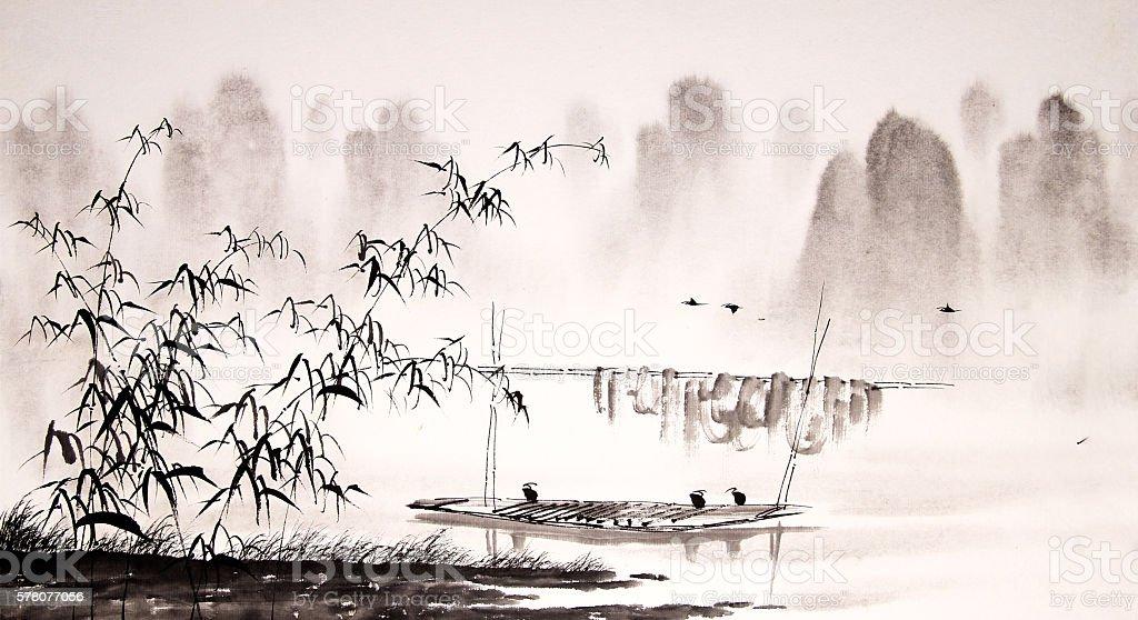 китайский пейзаж картинки