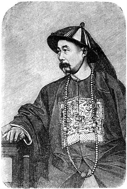chinese lord - old man photo pictures stock illustrations, clip art, cartoons, & icons