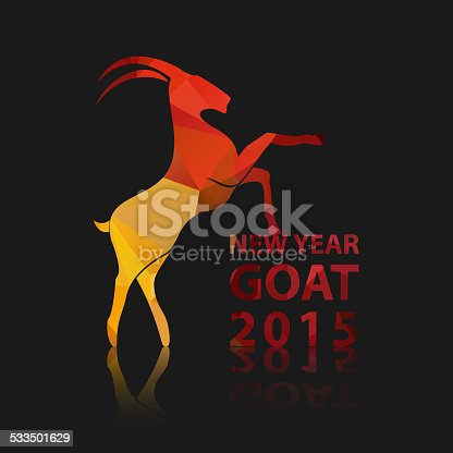 istock Chinese New Year 2015 of goat. 533501629