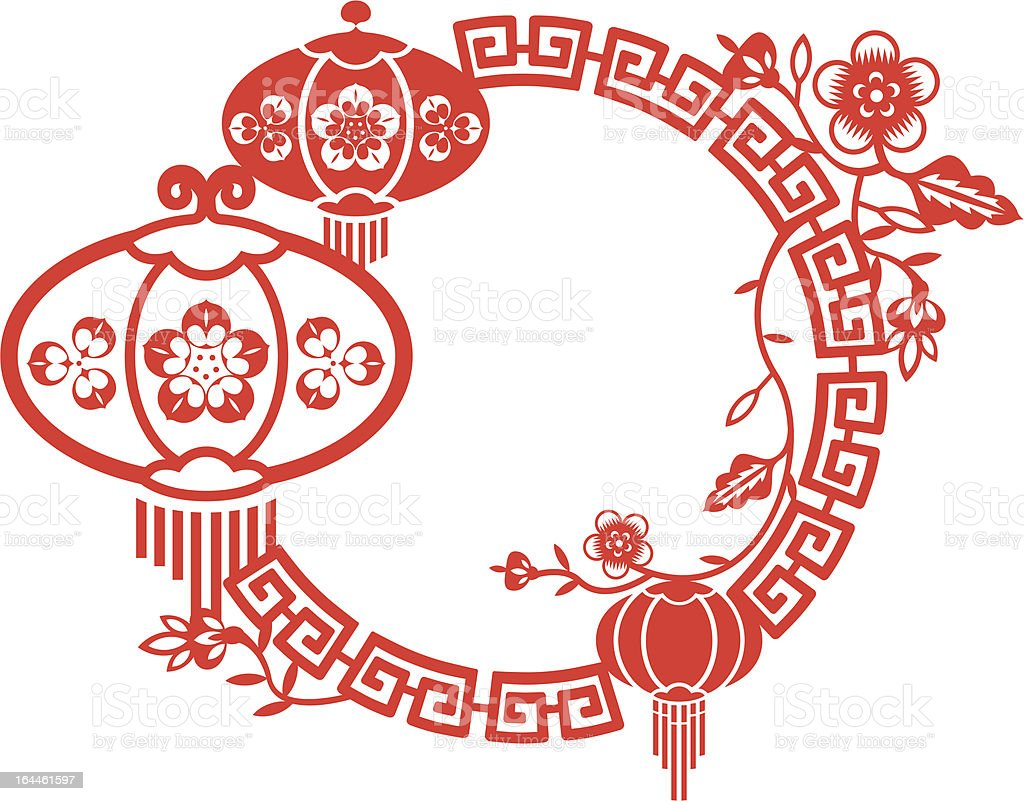 chinese new year and mid autumn festival frame royalty free chinese new year and mid