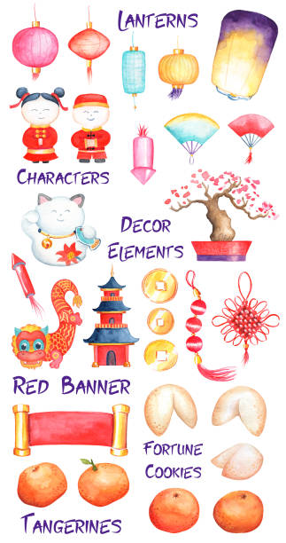Chinese New Year Festival/Dragon Dance Royalty Free Cliparts, Vectors, And  Stock Illustration. Image 83205854.