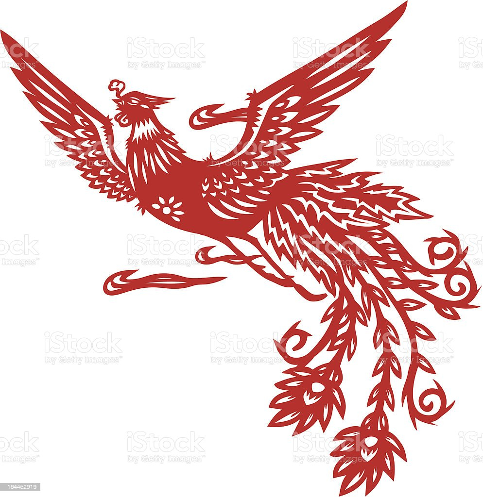 Chinese phoenix royalty-free stock vector art