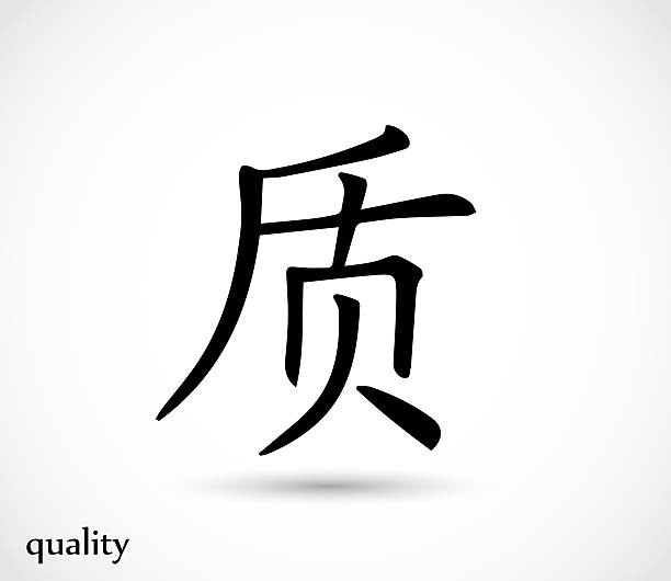 Royalty Free Chinese Symbols For Strength Clip Art Vector Images