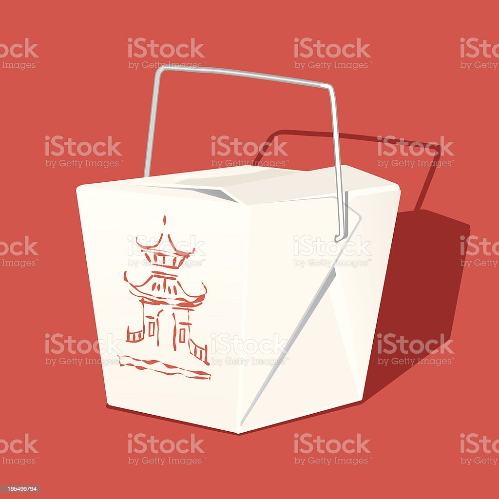 Chinese Takeout Box vector art illustration